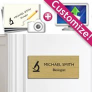 Customize your own Brushed Metal Plate Sign