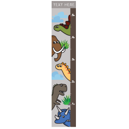 Custom Dino Growth Chart decal