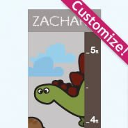 Personalized Dino Growth Chart wall decals