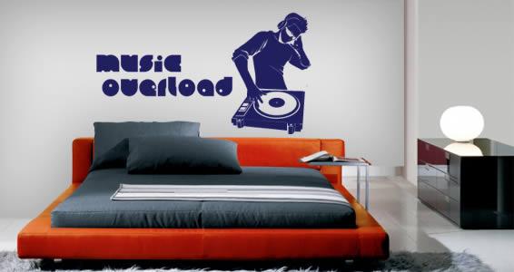 Custom DJ Sound wall decals