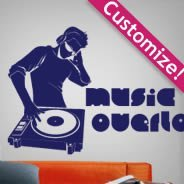Personalized  DJ Sound wall decals