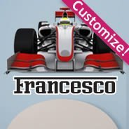 Custom F1 Racing Car decal