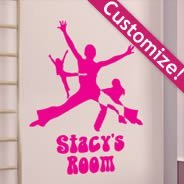 Custom Lettering Fame wall decals