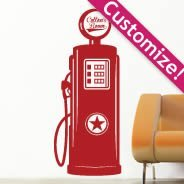 Custom Lettering Gas Pump wall decals