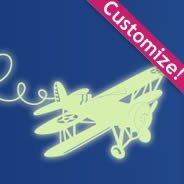 Airplane glow in the dark wall stickers