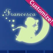 Moon Girl glow in the dark wall stickers