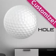 Golf Ball personalized wall decals