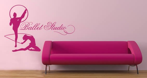 Superbe Personalized Lettering Gymnastics Wall Decals