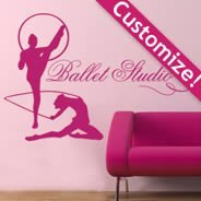 Personalized Lettering Gymnastics wall decals
