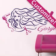 Hair and Style customized wall decals