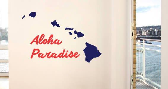 Personalizades Hawaiian Islands wall decals