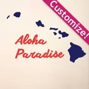 Personalizades Hawaiian Islands wall decals