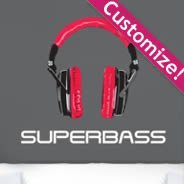Headphones personalized  wall decals