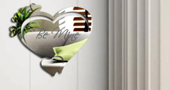 Custom Lettering Heart Mirror