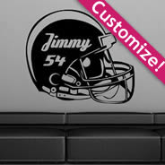 Personalized Football Helmet  wall stickers