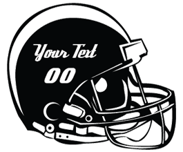 Custom Football Helmet stickers