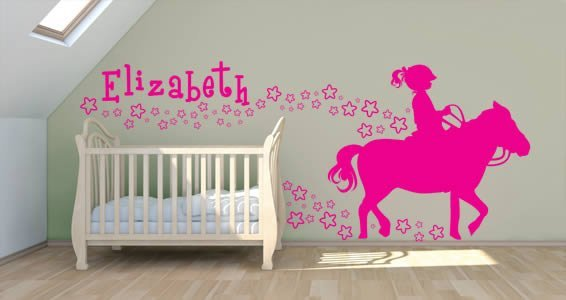 Custom Lettering Her Love Pony decal