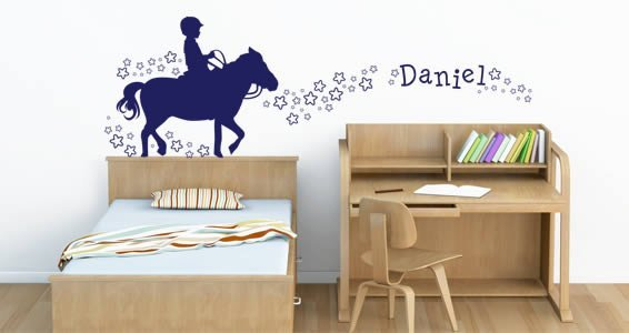 Custom Lettering His Pony Love wall sticker