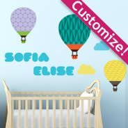 Custom Hot Air Balloon pack decals