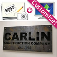 Solid Iron outdoor & indoor Signs