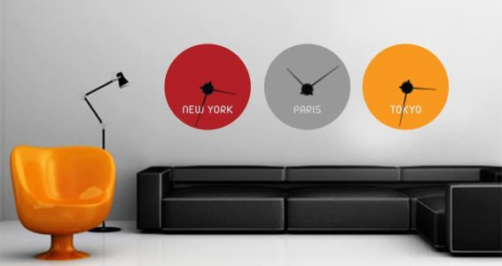 Custom Lettering  wall Stickers clock