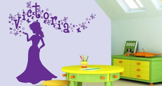 Ordinaire Personalized Lettering Magic Princess Wall Decals