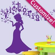Personalized Lettering Magic Princess wall decals
