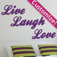 Custom Lettering wall appliques