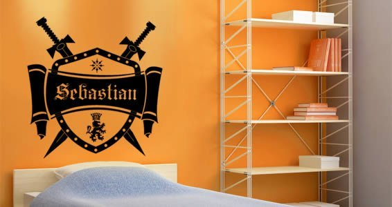 Personalized  Medieval Crest wall decals