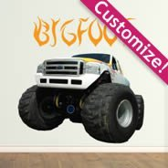 Custom Monster Tires wall decal