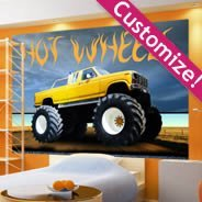 Custom Monster Truck wall mural
