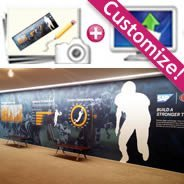 Custom Promotional Mural Barricades