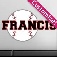 Custom My Baseball Lettering decals