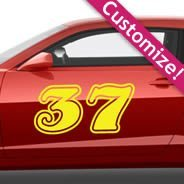 Custom Number car decals