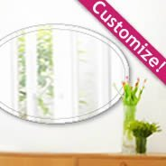 Custom Oval Wall Mirror