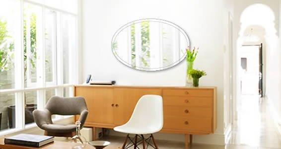 Custom Oval Wall Mirror