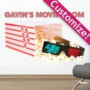 Movie Popcorn personalized wall decals
