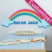 Rainbow Headboard wall decals