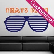 Personalized Shutter Shades wall decals