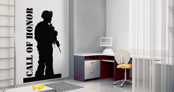 Custom Soldier wall decals