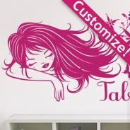 Custom Lettering Songe Floral decals