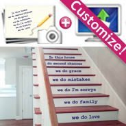 Stairs Personalized wall decals