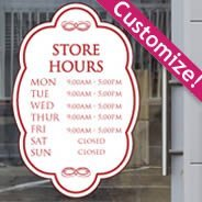 Customize your own store hours sign