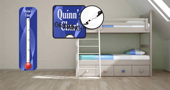 Custom Temperature growth chart wall decals