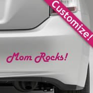 Custom lettering car decal