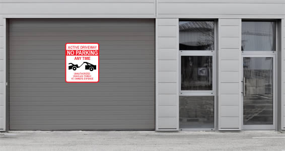 Custom Tow Away Sign wall decals