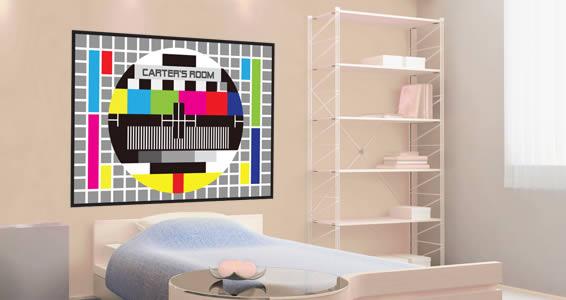 TV Screen Test custom wall decals