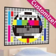 TV Screen Test personalized wall decals