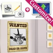 Personalized  your own Wanted Dead or Alive decal