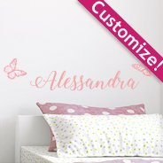 Custom Watercolor Butterflies wall decals